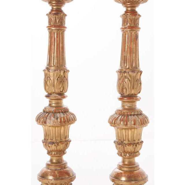 French French 19th Century Gold Gilt Altar Torcheres - a Pair For Sale - Image 3 of 8