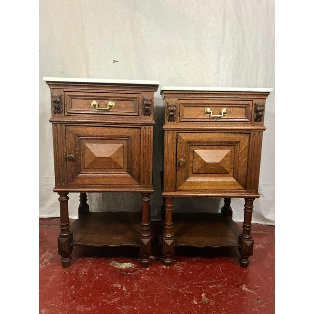 Pair of Oak Belgian 19th Century Side Tables For Sale - Image 13 of 13
