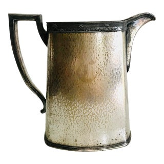 1940s Art Deco, Traditional Silver Pitcher With C Monogram For Sale