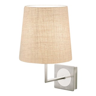 Brushed Nickel and Polished Chrome Wall Light & Shade