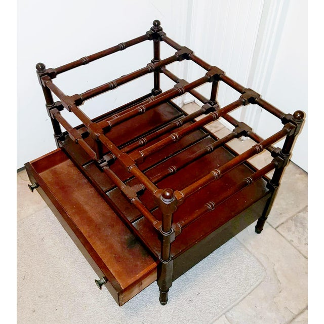 1920s 1920s Vintage Chippendale Style Mahogany Canterbury Magazine Rack For Sale - Image 5 of 6