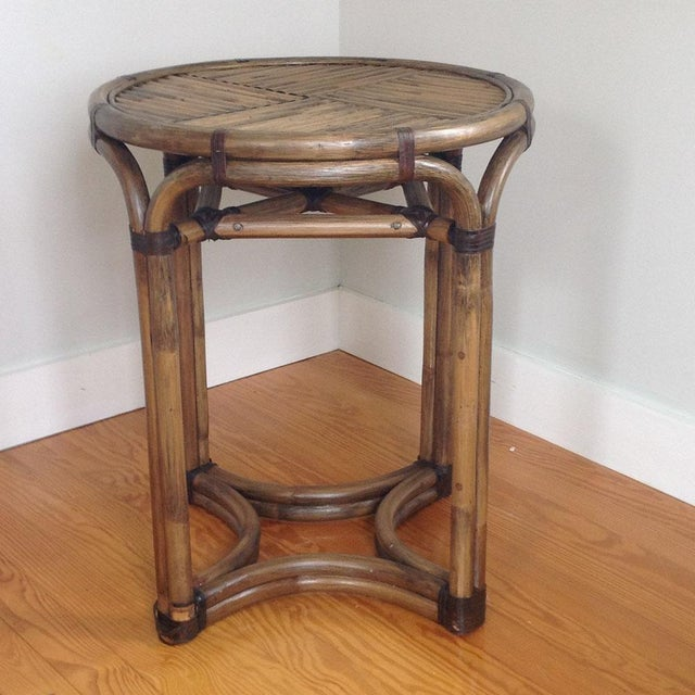 Bentwood & Rattan Side Table - Image 7 of 8
