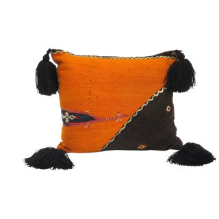 Vintage Wool Throw Pillow For Sale