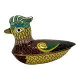 Image of Antique Asian Cloisonne Bird Box For Sale