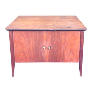 Danish Modern Accent Cabinet Side Table For Sale
