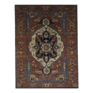 Indo Persian Hand-Knotted Wool Rug - 8′9″ × 11′11″ For Sale