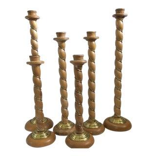 1980s Italian Monumental Dolbi Cashier Candlesticks - Set of 6 For Sale