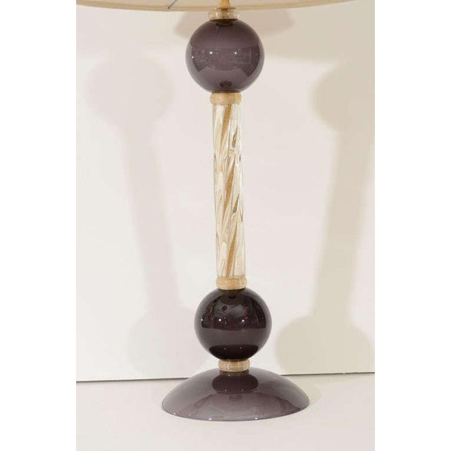 Murano Glass Lamps - A Pair For Sale In New York - Image 6 of 8