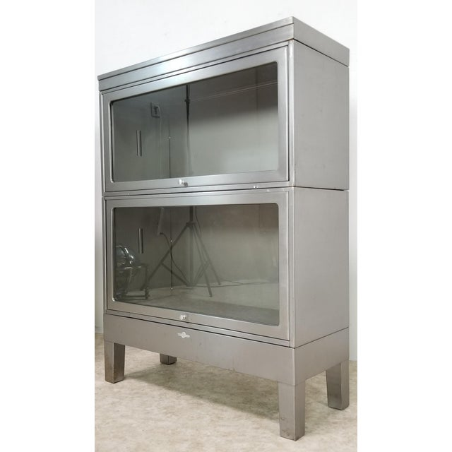 Mid Century Industrial Lawyer Bookcase For Sale - Image 13 of 13