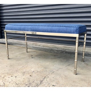Vintage Chrome Faux Bamboo Bench Preview
