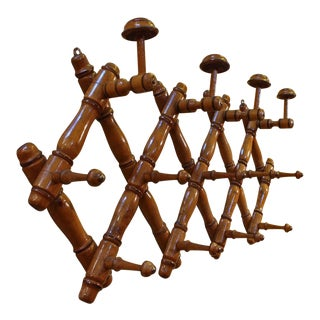 1880's Vintage Faux Bamboo Coat & Hat Rack For Sale