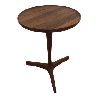1960s Danish Mid Century Modern Hans Andersen Teak Tripod Side Table For Sale