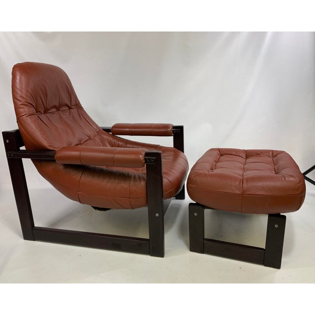Percival Lafer Brazilian Rosewood Lounge Chair & Footstool For Sale - Image 13 of 13