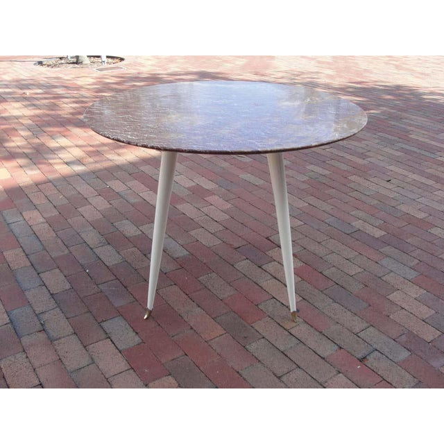 Red Marble Foyer Table, Attributed to Osvaldo Borsani For Sale In Miami - Image 6 of 7