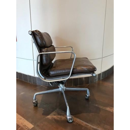 Brown Vintage Mid-Century Eames Herman Miller Soft Pad Office Chair For Sale - Image 8 of 13