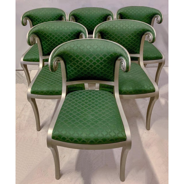Set of 8 Casa Stradivari Neo-Classical Klismos Dining Chairs For Sale - Image 10 of 12