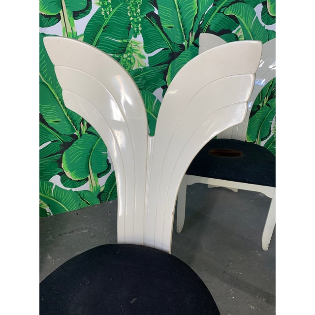 Sculptural Fish Tail Back Dining Chairs in the Manner of Ello - Set of Six For Sale - Image 4 of 11