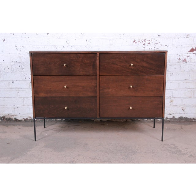 Paul McCobb Planner Group Iron Base Six-Drawer Dresser or Credenza For Sale - Image 11 of 11