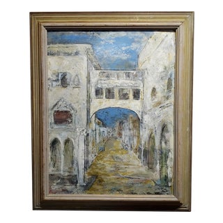 Dorothy Brown - Venice View - 1956 Oil Painting For Sale