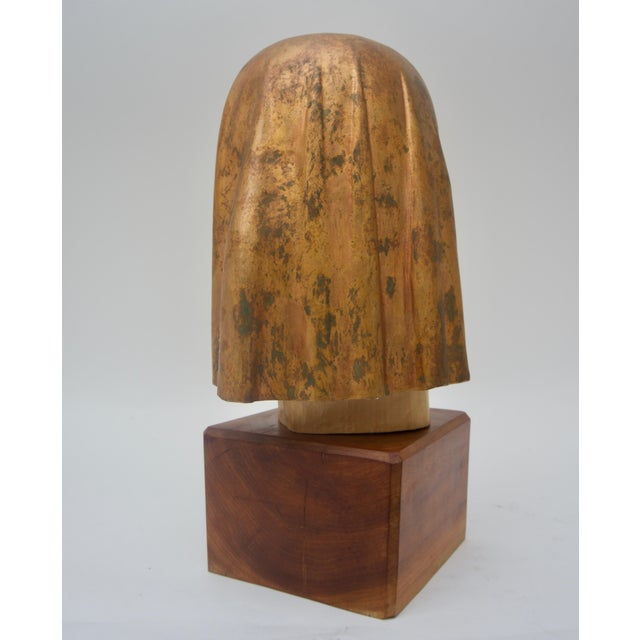 "Wood Giltwood Sculpture Titled ""Shade Mask"" by Mark Jordan 1980 For Sale - Image 7 of 11"