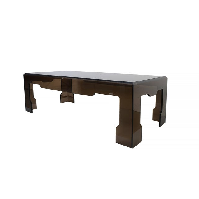 Jeffrey Bigelow Lucite Glass Coffee Table For Sale - Image 9 of 9
