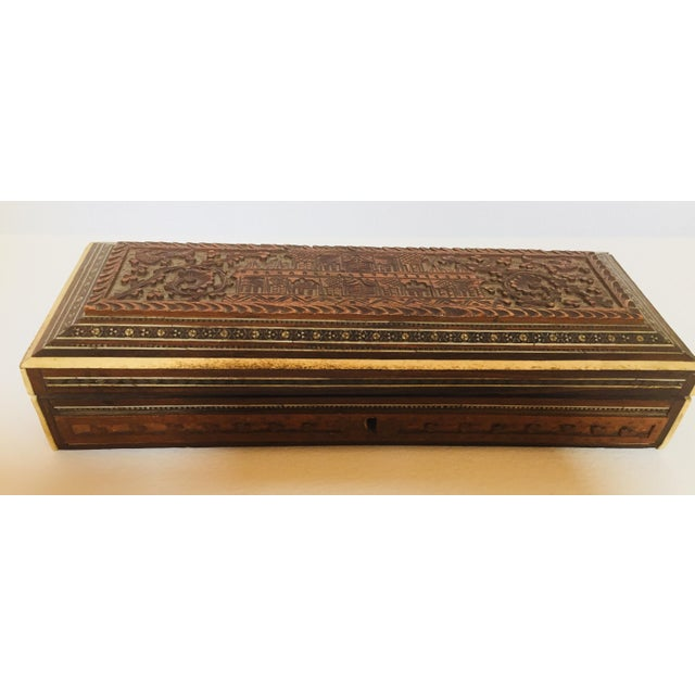 Antique Anglo Indian Mother of Pearl Inlay Box For Sale - Image 12 of 12