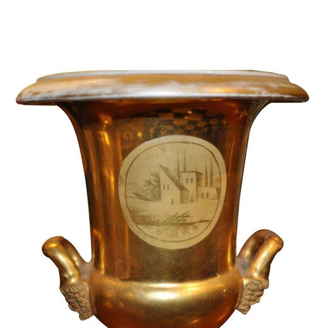 Pair of 19th Century Old Paris Urns For Sale - Image 4 of 5