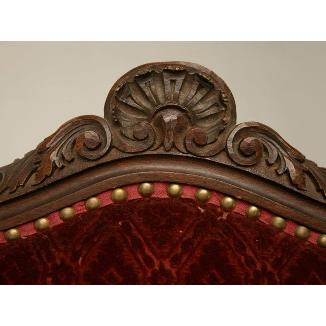 Exquisite Pair of Heavily Carved Antique French Louis XV Walnut Fauteuils - Image 3 of 10