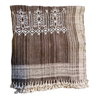 Tribal, Hand Spun Wool Bed Cover For Sale