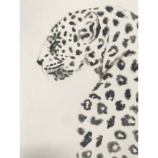 Leopard Original Watercolor Painting For Sale