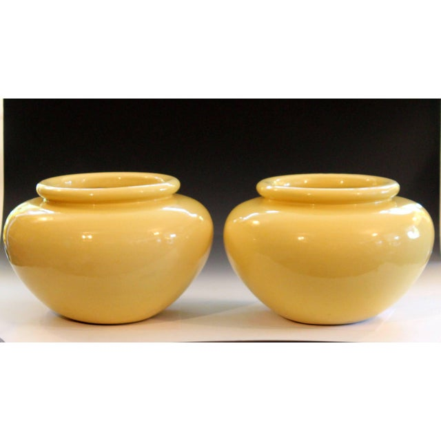 Pair of Pacific Pottery Clay Art Deco Ca La Gladding Bauer Gmb Garden Jar Vases For Sale - Image 9 of 10