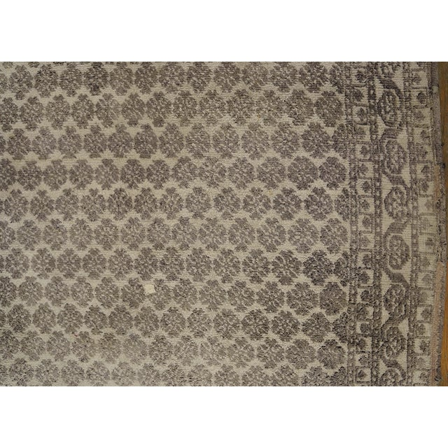 1900 - 1909 Antique Indian Agra Rug For Sale - Image 5 of 10