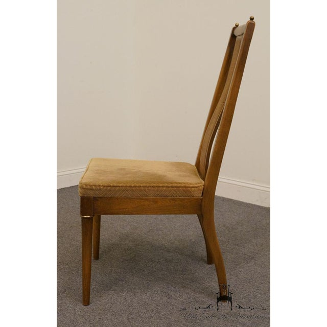 American of Martinsville Late 20th Century Vintage American of Martinsville Asian Inspired Dining Chair For Sale - Image 4 of 8