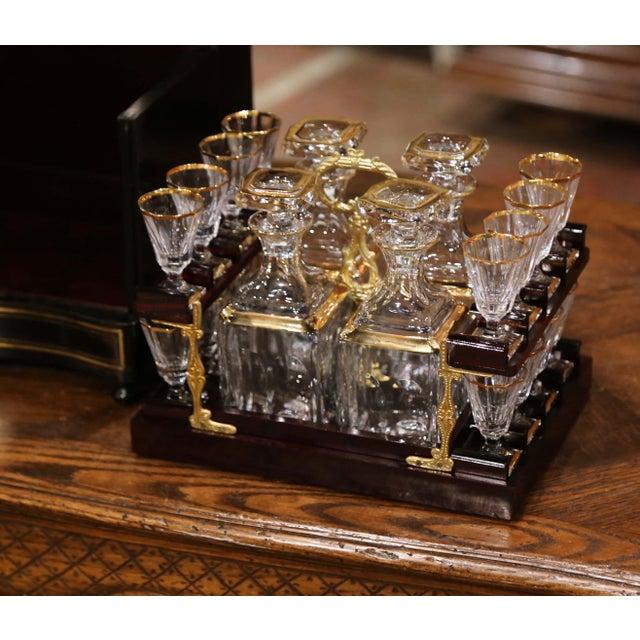 Black 19th Century French Napoleon III Mahogany and Bronze Inlaid Liquor Box For Sale - Image 8 of 13