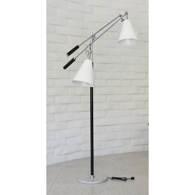 Mid-Century Modern 1960s Classic Triennale Three-Arm Floor Lamp For Sale - Image 3 of 7