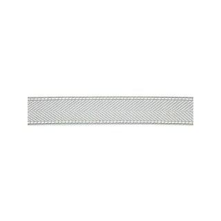 Scalamandre Montauk Herringbone Tape, Mineral Fabric For Sale