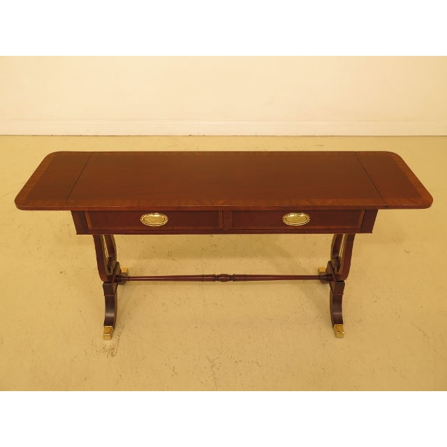 Baker drop side lyre base mahogany sofa table chairish baker drop side lyre base mahogany sofa table for sale image 10 of 13 watchthetrailerfo