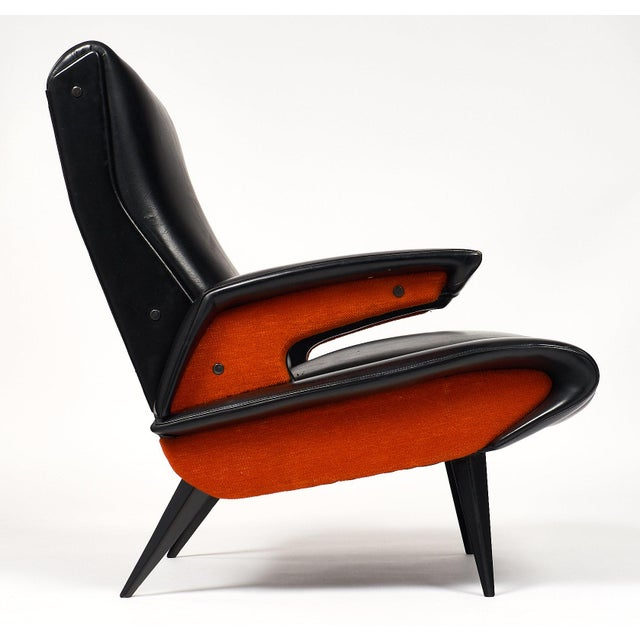 Wood French Mid-Century Armchairs - a pair For Sale - Image 7 of 10