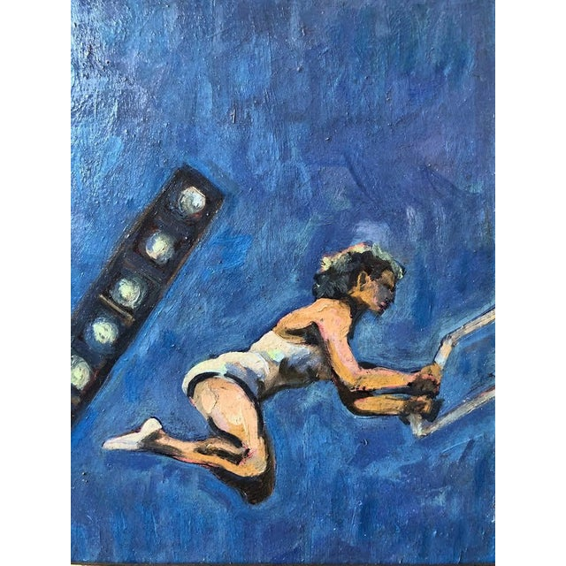 Contemporary Acrobats Oil on Board by A. Smith For Sale - Image 3 of 7