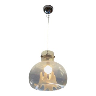 Molded Glass Hanging Pendant by Carlo Nason for Mazzega, Italy