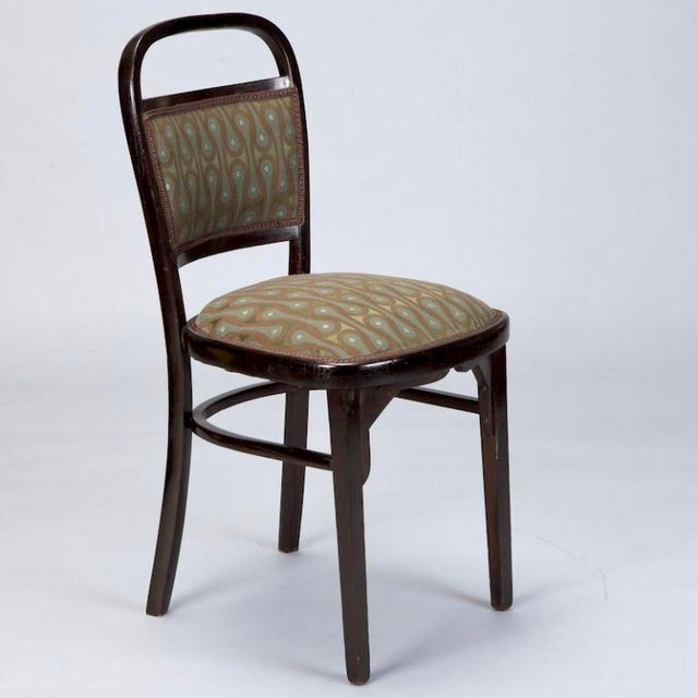 Set of 4 Otto Wagner Secessionist Walnut Dining Chairs - Image 6 of 10