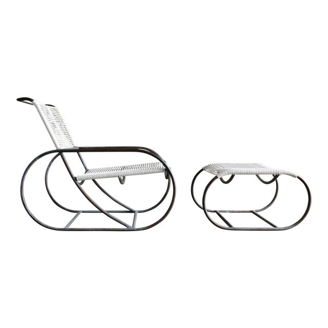 Bronze Outdoor Lounge Chair and Ottoman by Kipp Stewart for Terra of California For Sale