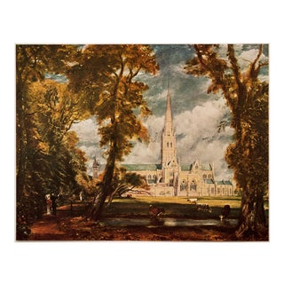 "1950s John Constable, ""Salisbury Cathedral"" First Edition Lithograph For Sale"