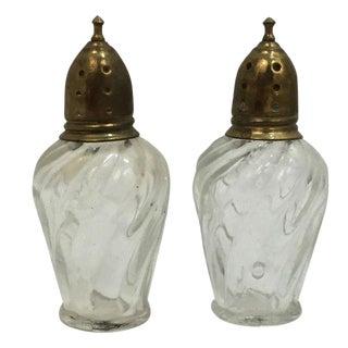 Antique Salt & Pepper Shakers - A Pair