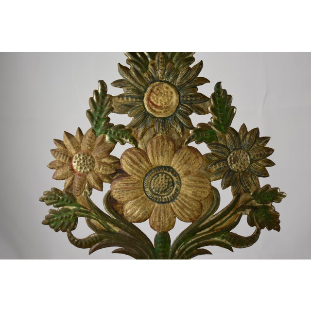 Continental Tôle Peinte Bouquets in Urns - a Pair For Sale In Philadelphia - Image 6 of 11