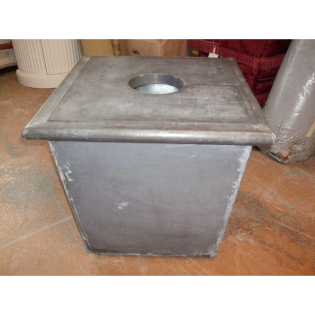 Zinc Planter with Ram's Head For Sale - Image 4 of 6