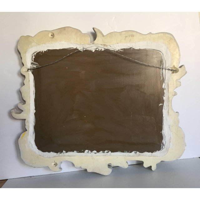 1950s Fabulous Vintage Large Plaster Mirror in the Manner of Dorothy Draper For Sale - Image 5 of 8