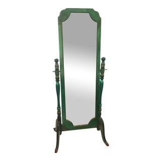Vintage Emerald Full-Length Mirror