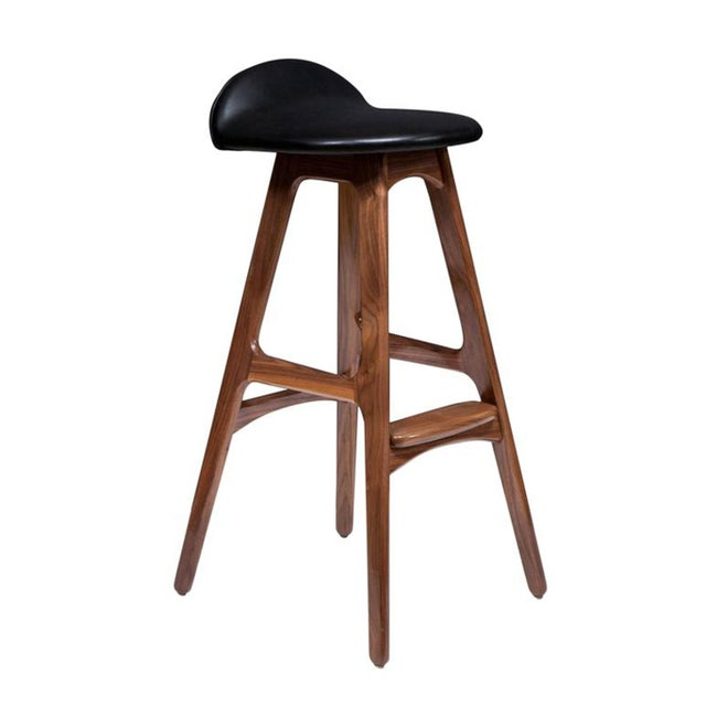 Mid-Century Modern Customizable Set of Four Boyd Stools For Sale - Image 3 of 4
