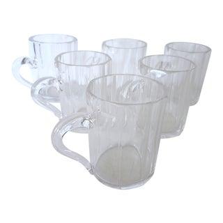 Set of 6 Fluted Mini Mugs For Sale